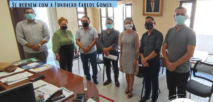 Em busca de parceria, Prefeito e Secretários se reúnem com a fundação Carlos Gomes.